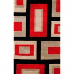 Red Contemporary Area Rugs