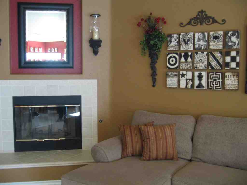 Wall art ideas for living room diy decor ideasdecor ideas for Apartment wall decorating ideas