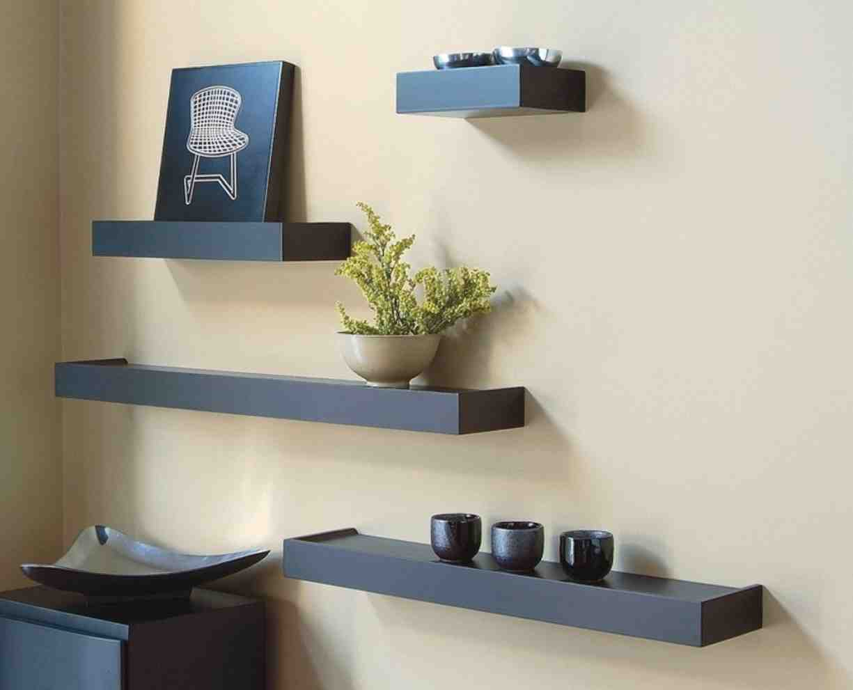 Shelves for the living room modern house - Living room wall shelf ...