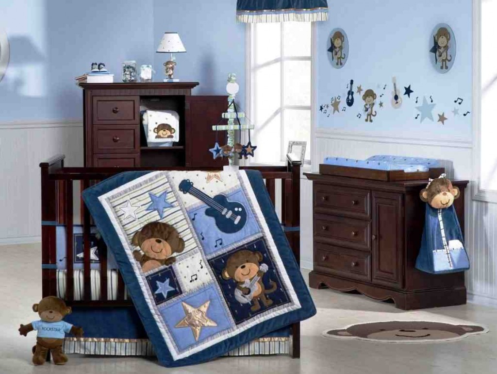 Baby boy room decor ideas decor ideasdecor ideas for Baby boy mural ideas