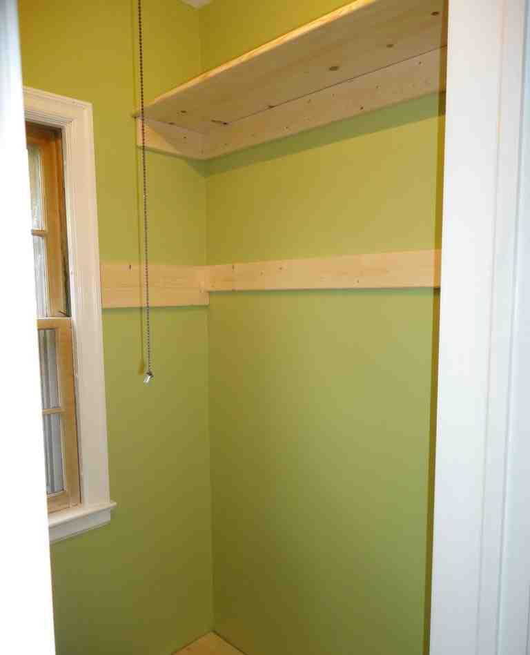 Installing Closet Shelves