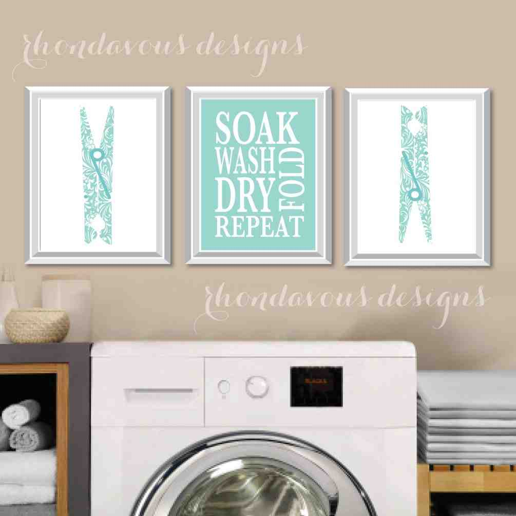 Laundry room wall art decor decor ideasdecor ideas for Room decor art