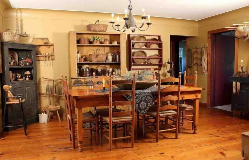 Primitive Dining Room Decor