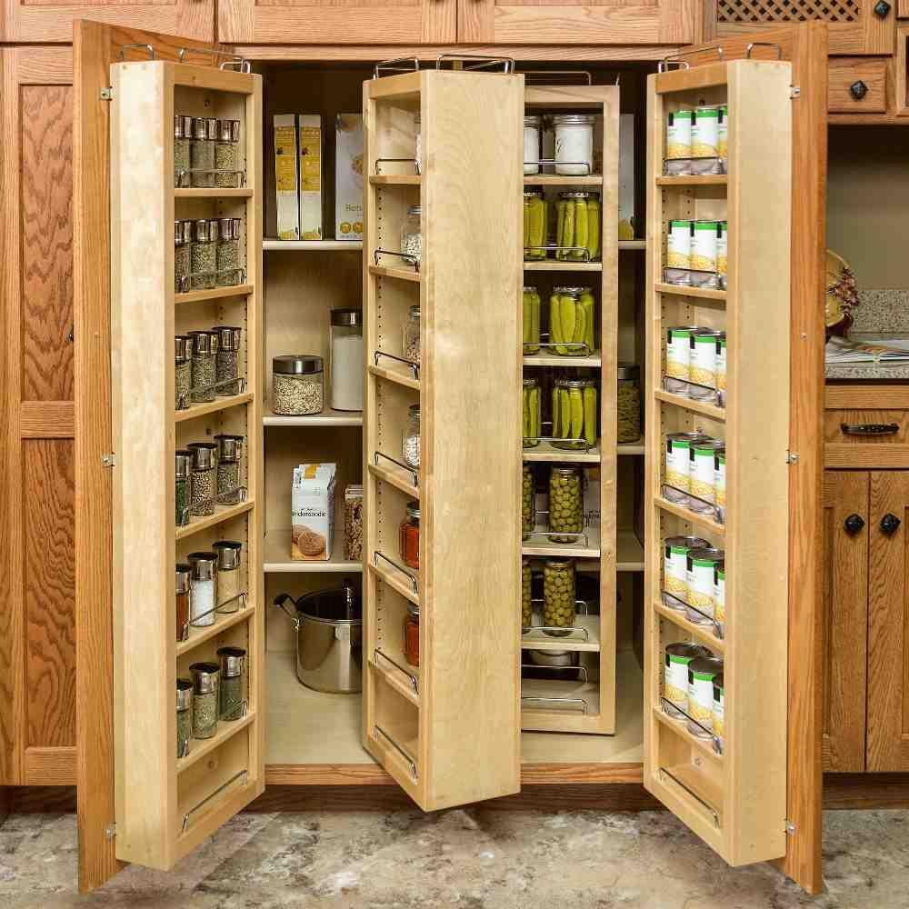 Rotating Food Storage Shelves