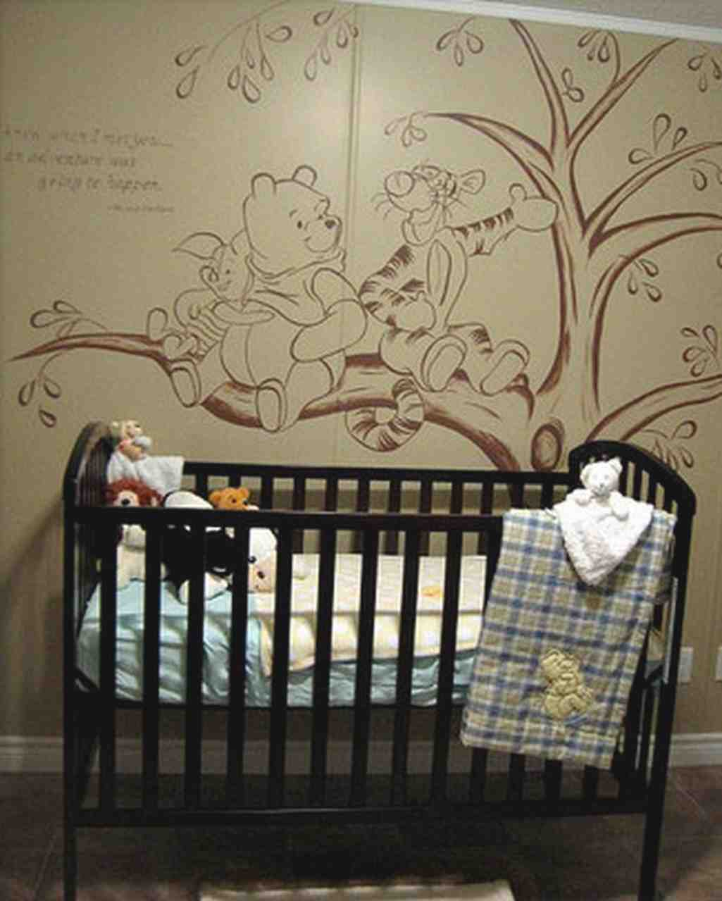 Winnie the pooh baby room decor decor ideasdecor ideas for Baby room mural ideas