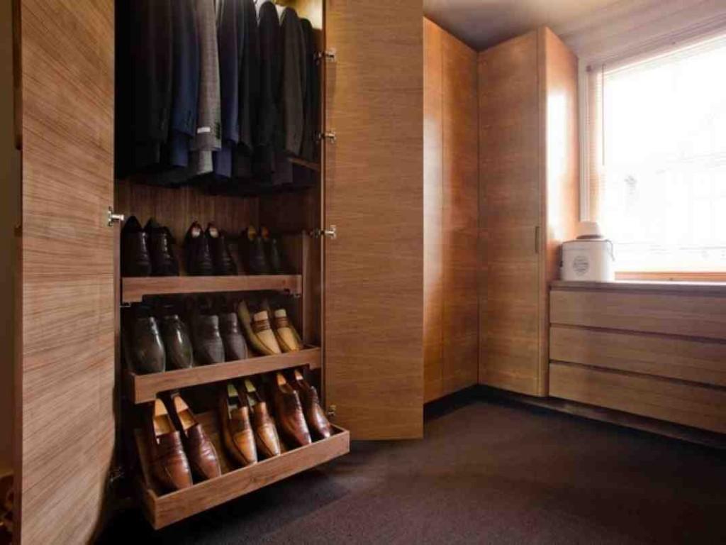 Wood Closet Shelving Units