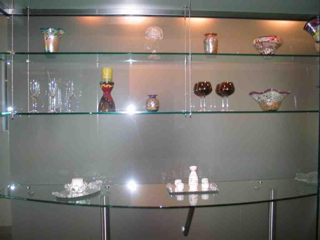 Custom Tempered Glass Shelves