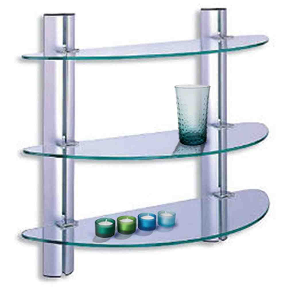 Glass shelves for bathroom decor ideasdecor ideas for Bathroom glass shelves