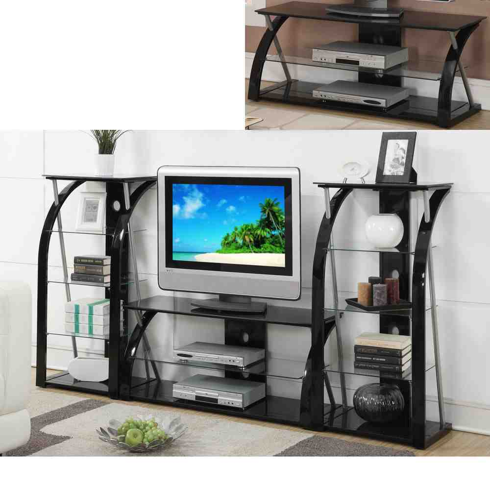 Tv Stand Glass Shelves Decor Ideasdecor Ideas