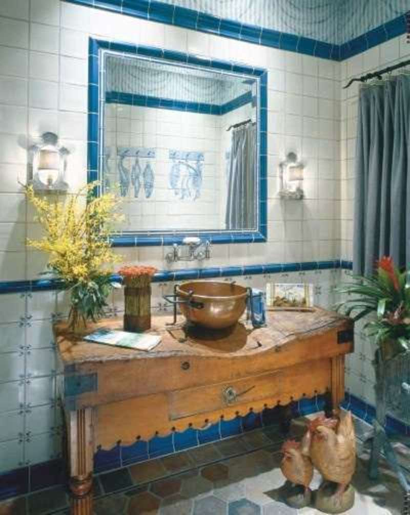 French country decorating decor ideasdecor ideas for Country style bathroom ideas