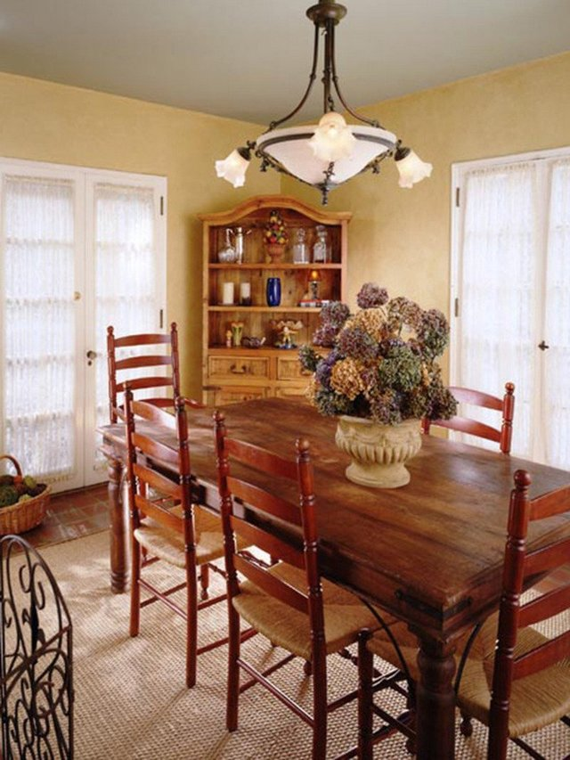 Rustic french country cottage decor decor ideasdecor ideas for Dining room decorating ideas rustic