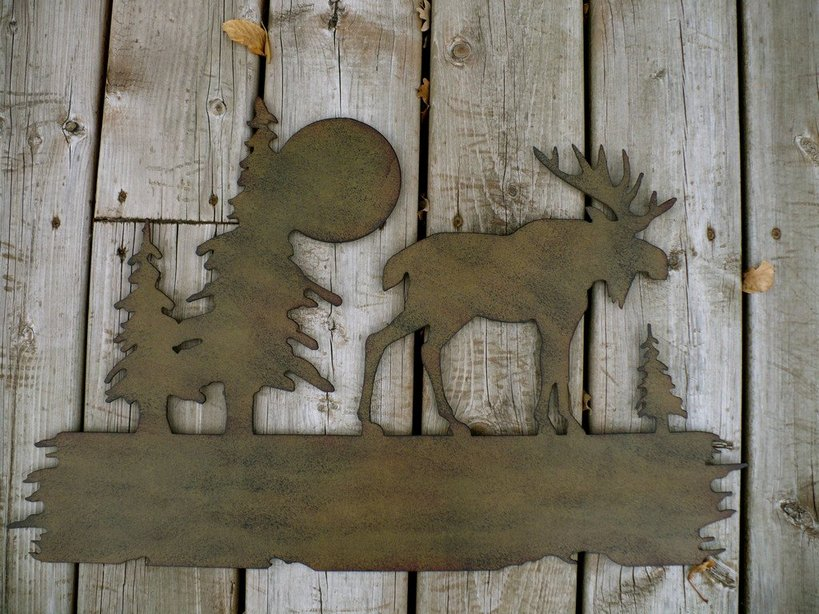 Moose Cabin Decor