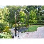 Garden Bench With Arbor