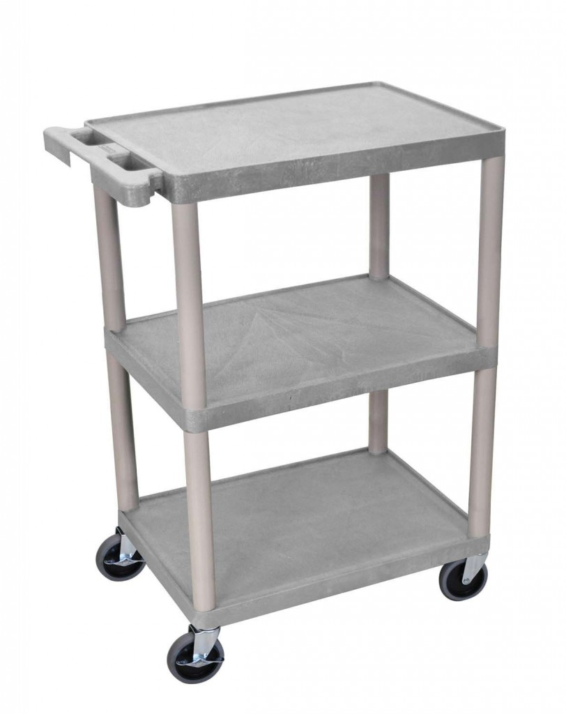 3 Shelf Plastic Utility Cart