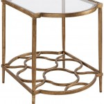 End Table In Gold Leaf