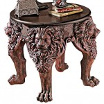 Lion Leg End Table