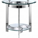 Mercury Round End Table