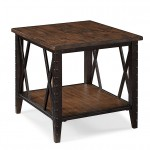 Rectangular End Table Wood And Metal