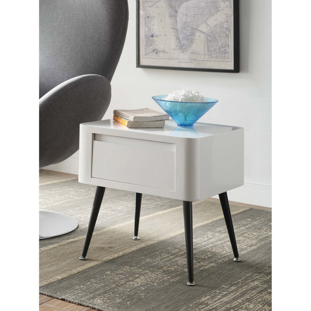 Black And White End Table
