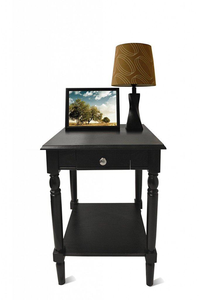 Black Wood End Tables