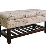 Cushioned Bench With Back