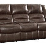 Brown Leather Reclining Couch