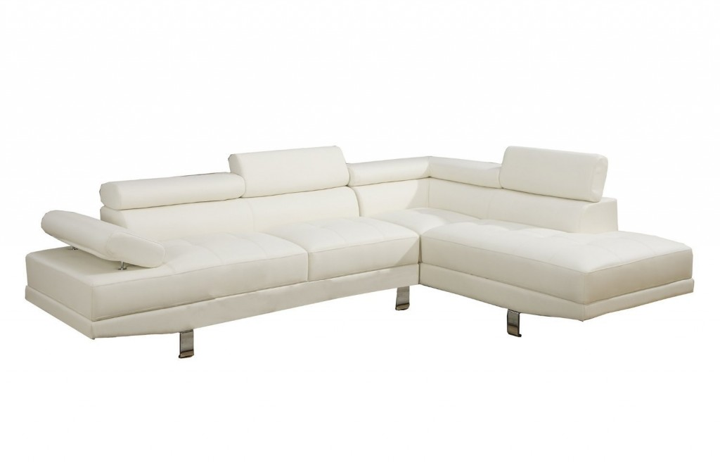 2 Piece Faux Leather Sectional Sofa