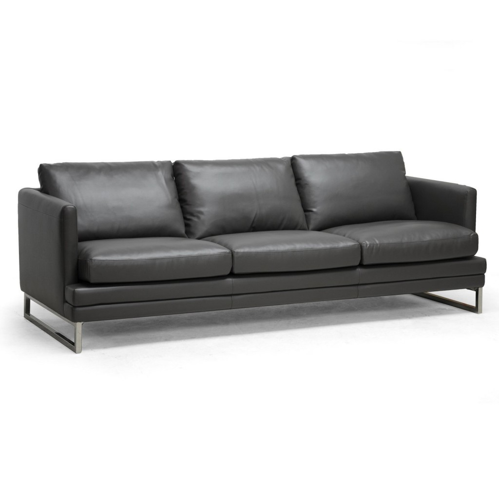 Baxton Studio Dakota Leather Modern Sofa