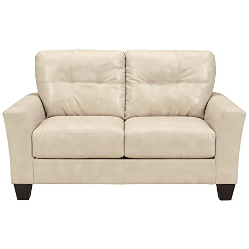 Benchcraft Paulie Loveseat In Taupe DuraBlend