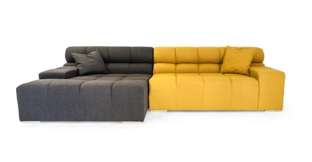 Kardiel Cubix Modern Modular Left Sectional Sofa