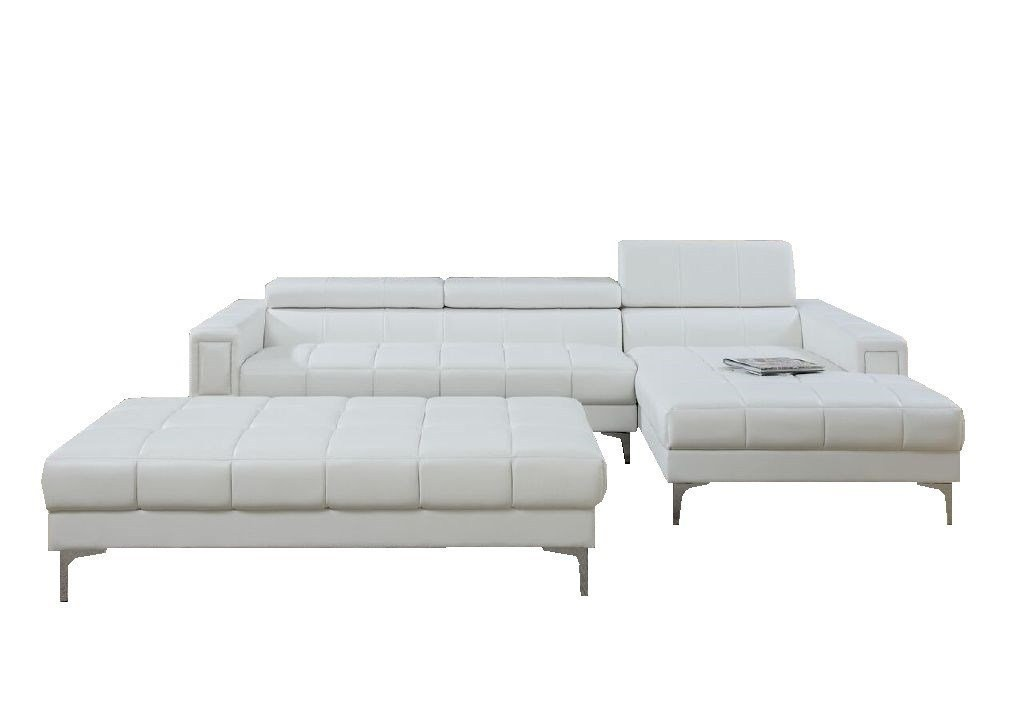 Modern Contemporary Bonded Leather Sectional Sofa