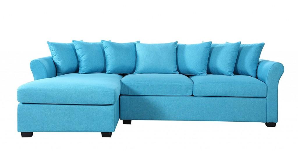 Modern Large Linen Fabric Sectional Sofa