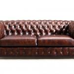Original Chesterfield Leather Sofa