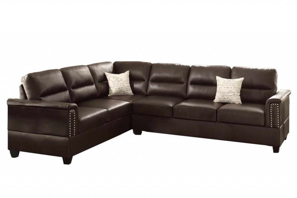 Poundex F7859 Bobkona Parrish Bonded Leather Left