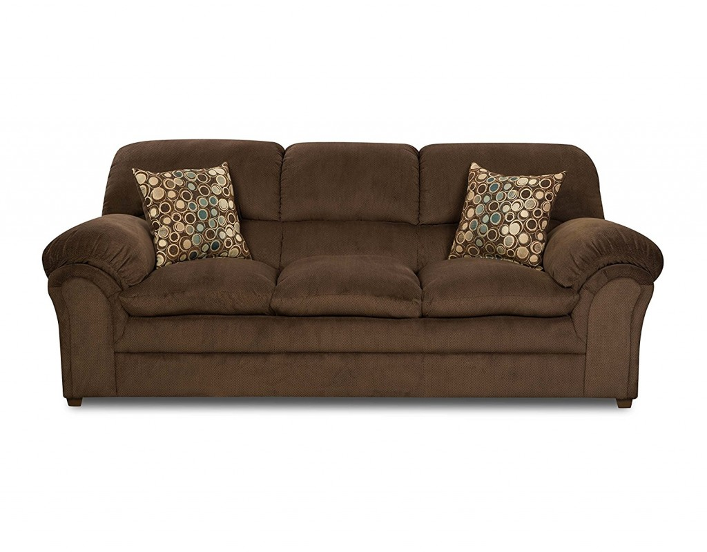 Simmons upholstery 6150 03 harper umber sofa decor for Simmons living room furniture