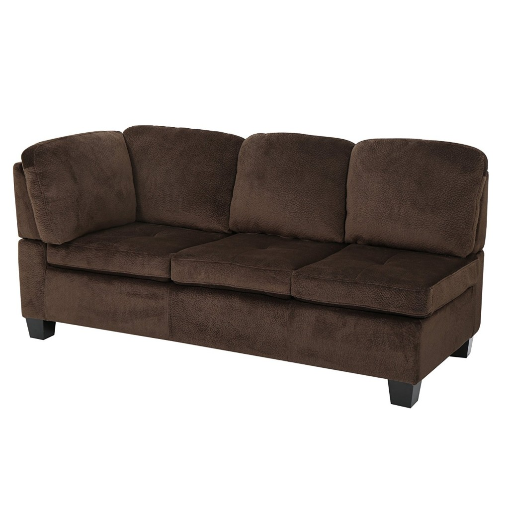 Welsh Chocolate Fabric Sectional Sofa Set