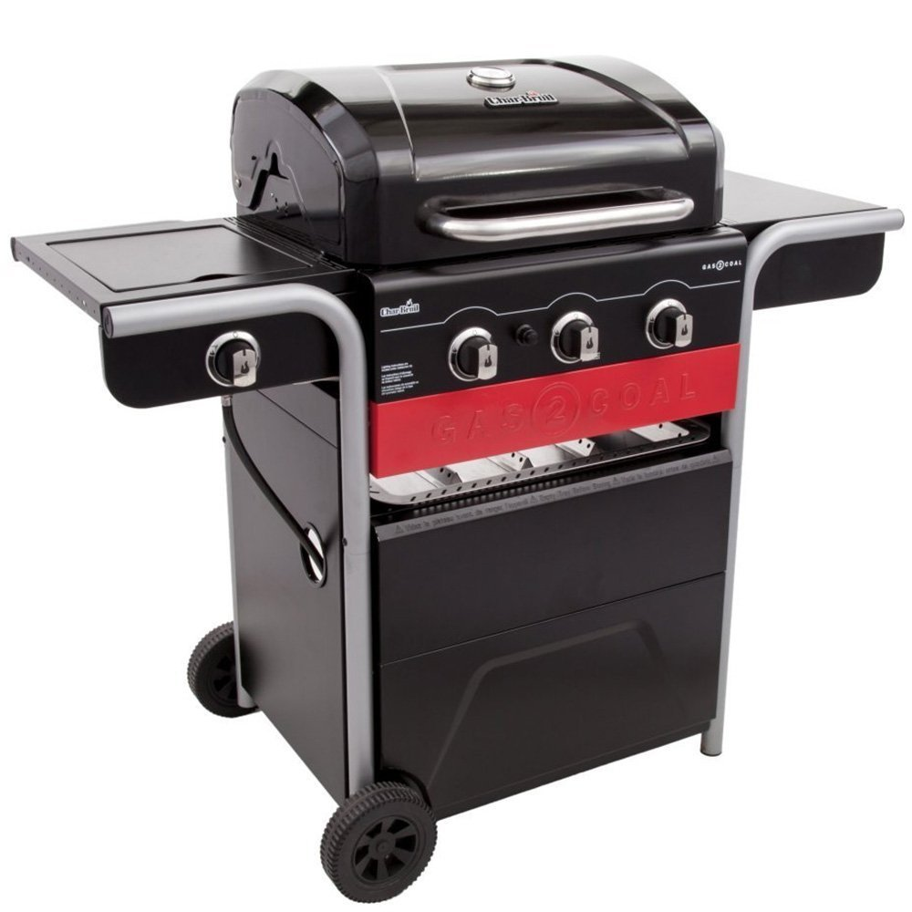 Propane And Charcoal Grill Combo