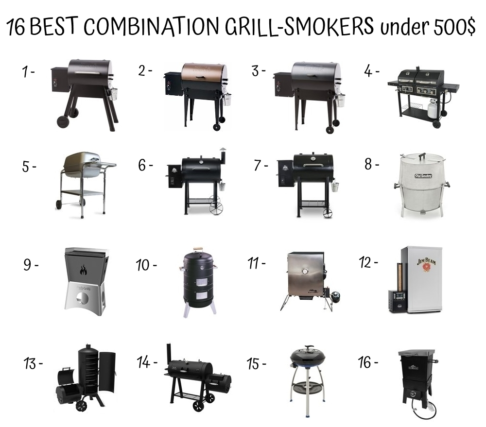 16 Best Combination Grill Smokers Under 500$