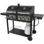 Portable Dual Fuel Combination Charcoal Gas Barbecue Outdoor Grill