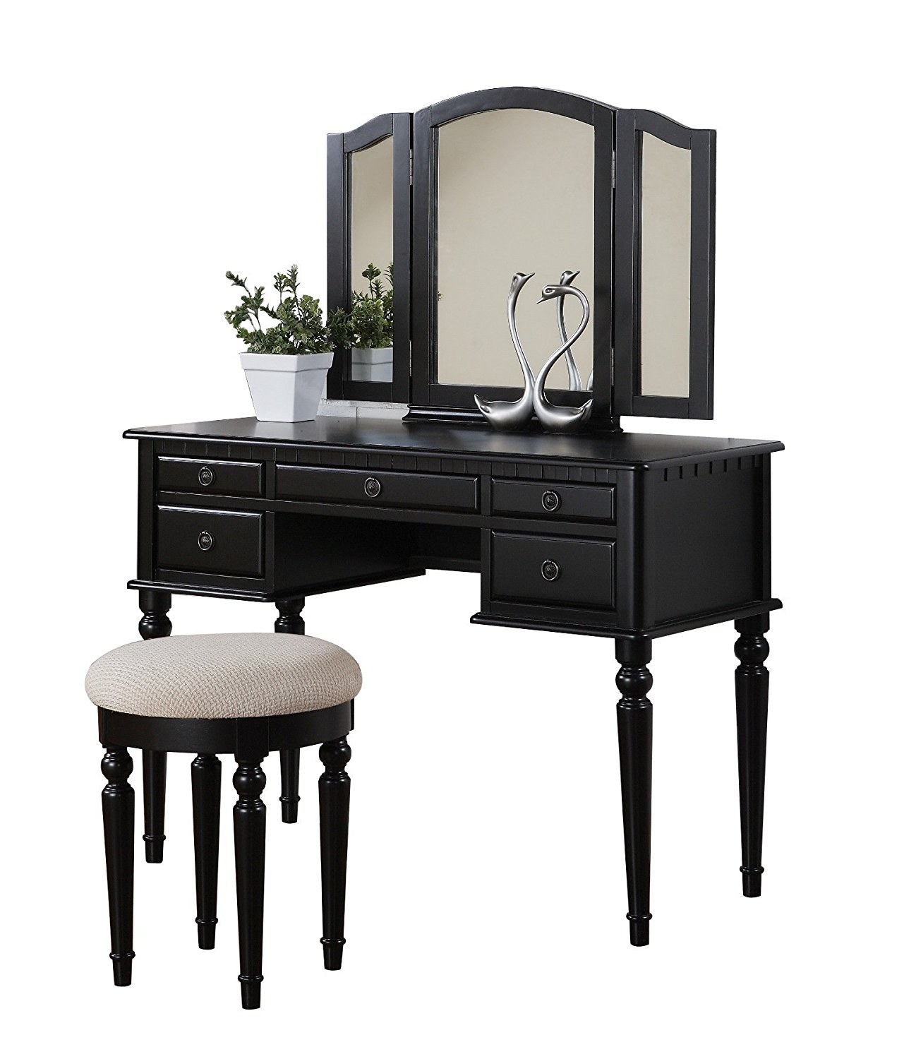 Makeup vanity table with lighted mirror decor ideasdecor for Vanity table with lighted mirror and bench