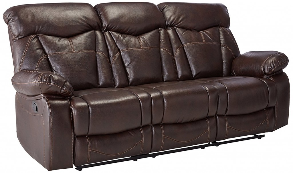 Dark Leather Couch