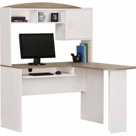 White Corner Desk With Hutch