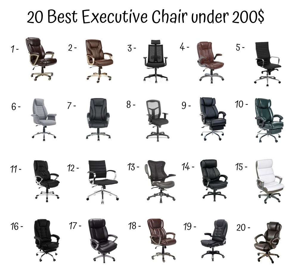 20 Best Executive Chair Under 200$