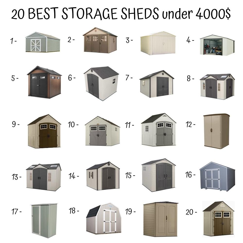 20 Best Storage Sheds Under 4000$