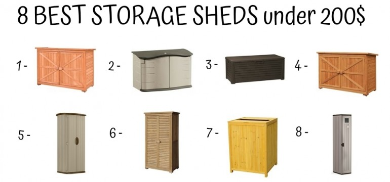 8 Best Storage Sheds Under 200$