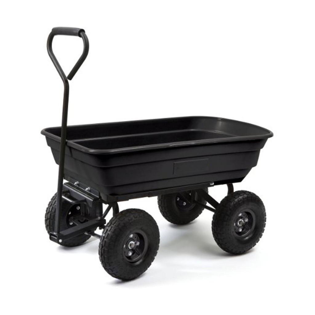 ALEKO TC4235 Heavy Duty Black Garden Dump Cart Wagon