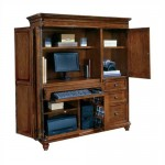 DMi Antigua Wood Computer Armoire