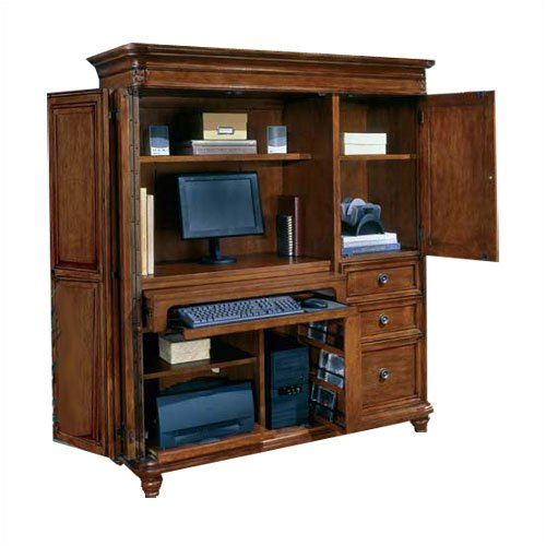 DMi Antigua Wood Computer Armoire