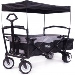 Folding SPORTS Wagon With All Terrain Rubber Tires
