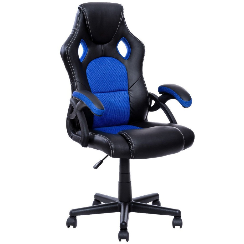 Giantex PU Leather Executive Bucket Seat Racing Style Office Chair